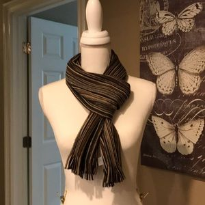 Striped winter scarf